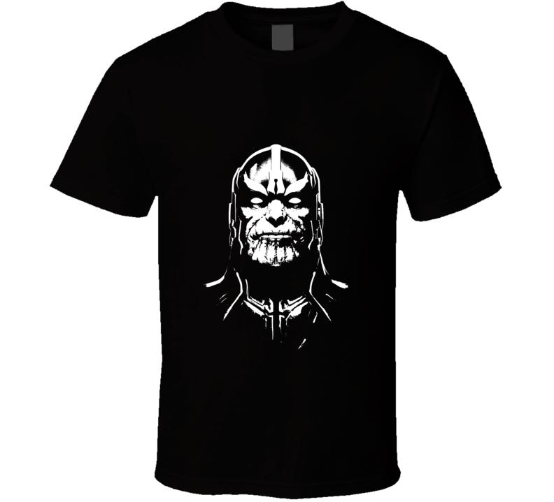 Thanos Infinity Gauntlet Movie Comic Books White Stencil T Shirt