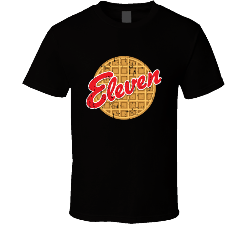 Stranger Things Eleven Eggo Parody Funny Aged T Shirt