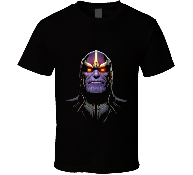 Thanos Infinity Gauntlet Movie Comic Books Face Art T Shirt