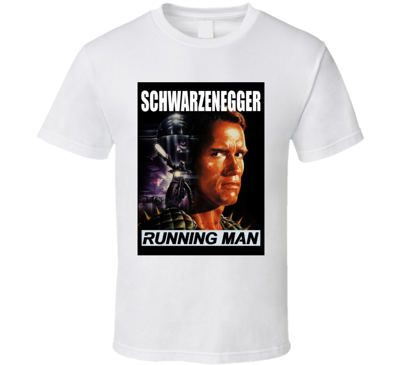 Running Man Cult Movie Poster Schwarzenegger T Shirt