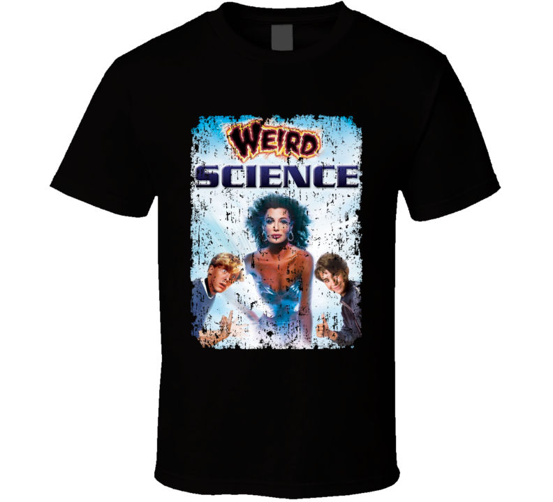 Weird Science Cult Movie Poster Kelly Lebrock Aged T Shirt