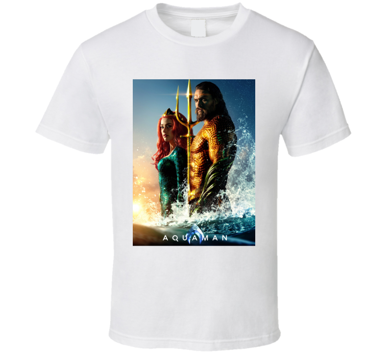 Aquaman Movie Poster Mera Jason Momoa Comics T Shirt