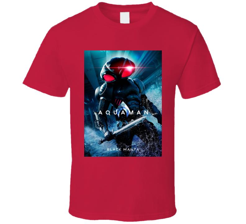 Aquaman Movie Poster Black Manta Comics T Shirt