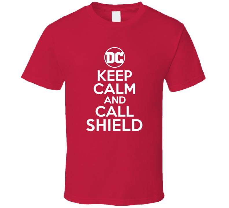 Keep Calm Call Shield Comic Books Super Hero Villain T Shirt