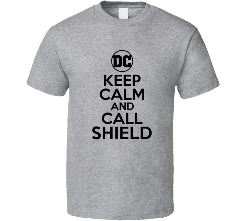 Shield Comic Books Super Hero Villain Keep Calm Call T Shirt