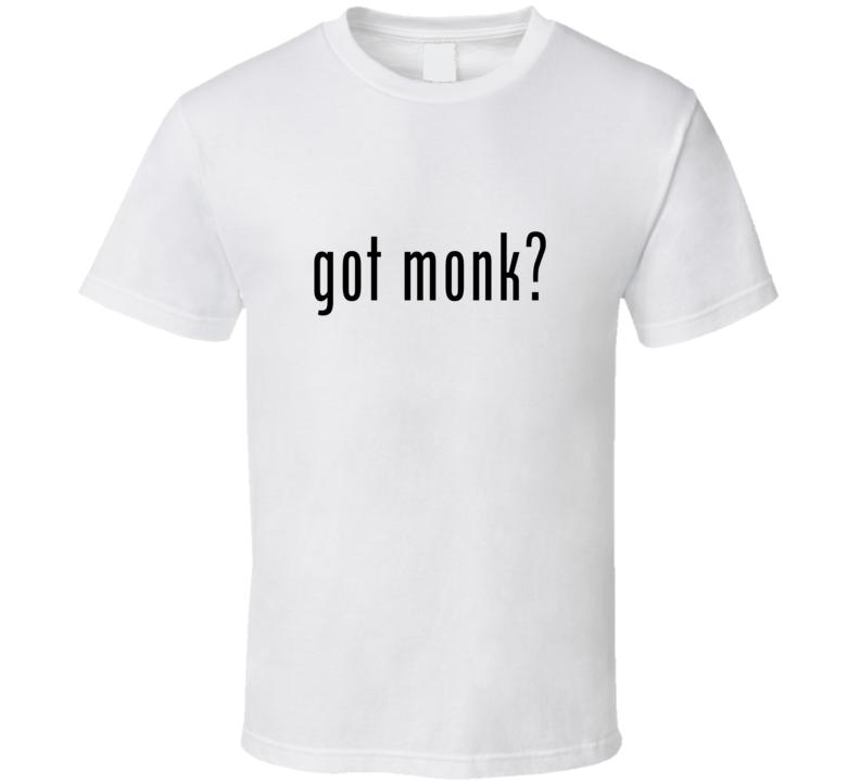 Monk Comic Books Super Hero Villain Got Milk Parody T Shirt