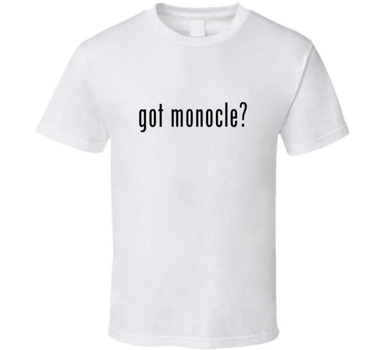 Monocle Comic Books Super Hero Villain Got Milk Parody T Shirt