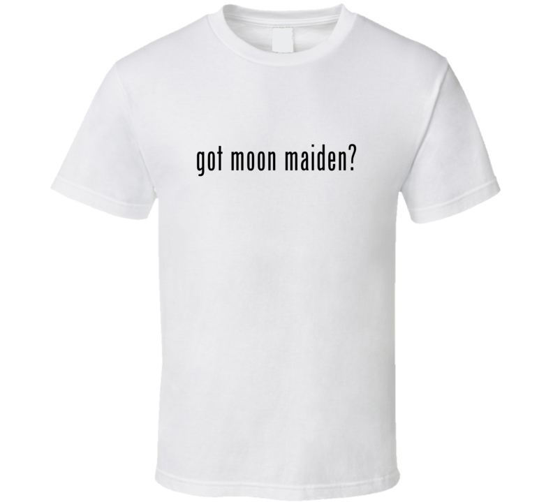 Moon Maiden Comic Books Super Hero Villain Got Milk Parody T Shirt