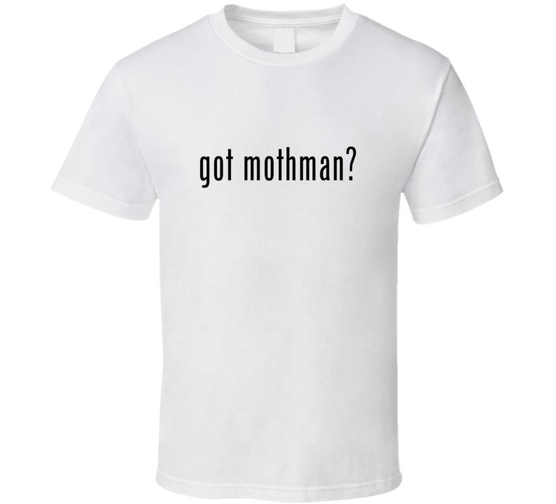 Mothman Comic Books Super Hero Villain Got Milk Parody T Shirt