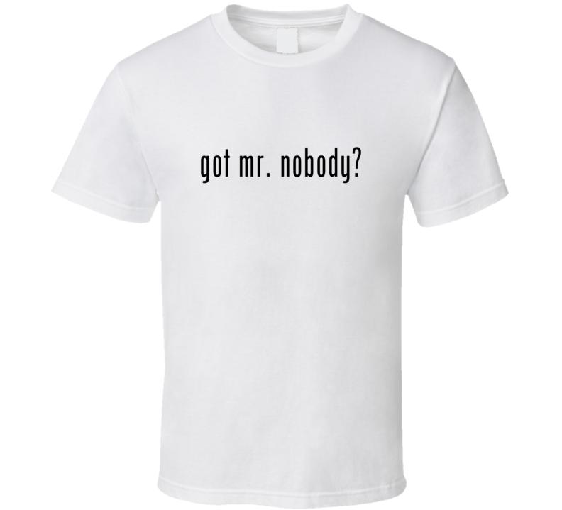 Mr Nobody Comic Books Super Hero Villain Got Milk Parody T Shirt