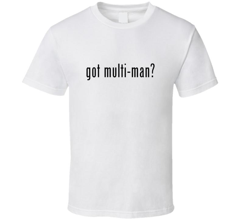 Multi Man Comic Books Super Hero Villain Got Milk Parody T Shirt