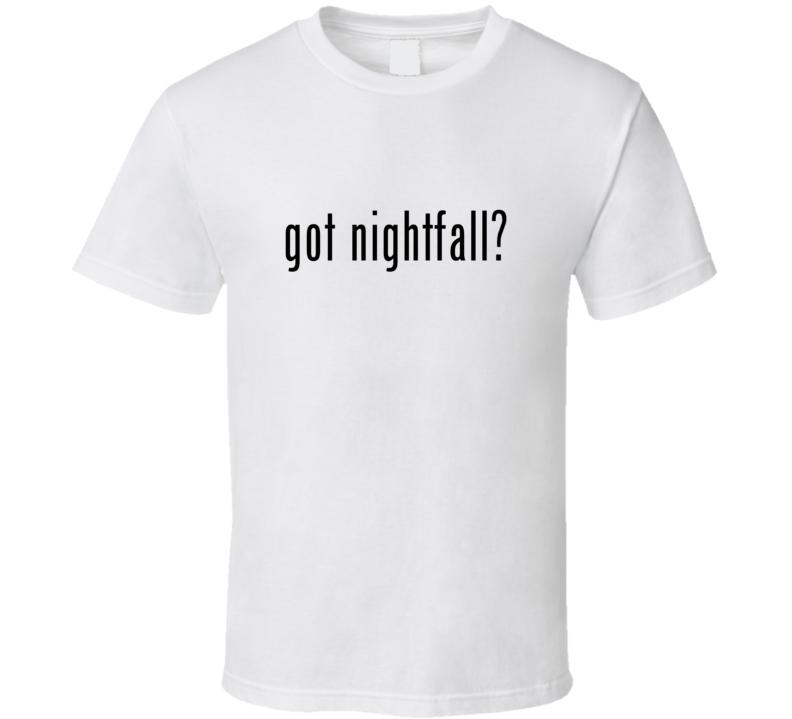 Nightfall Comic Books Super Hero Villain Got Milk Parody T Shirt