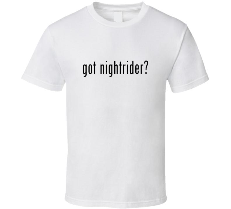 Nightrider Comic Books Super Hero Villain Got Milk Parody T Shirt