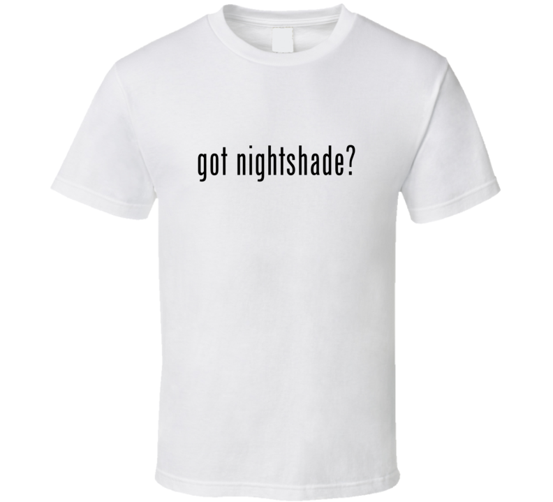Nightshade Comic Books Super Hero Villain Got Milk Parody T Shirt