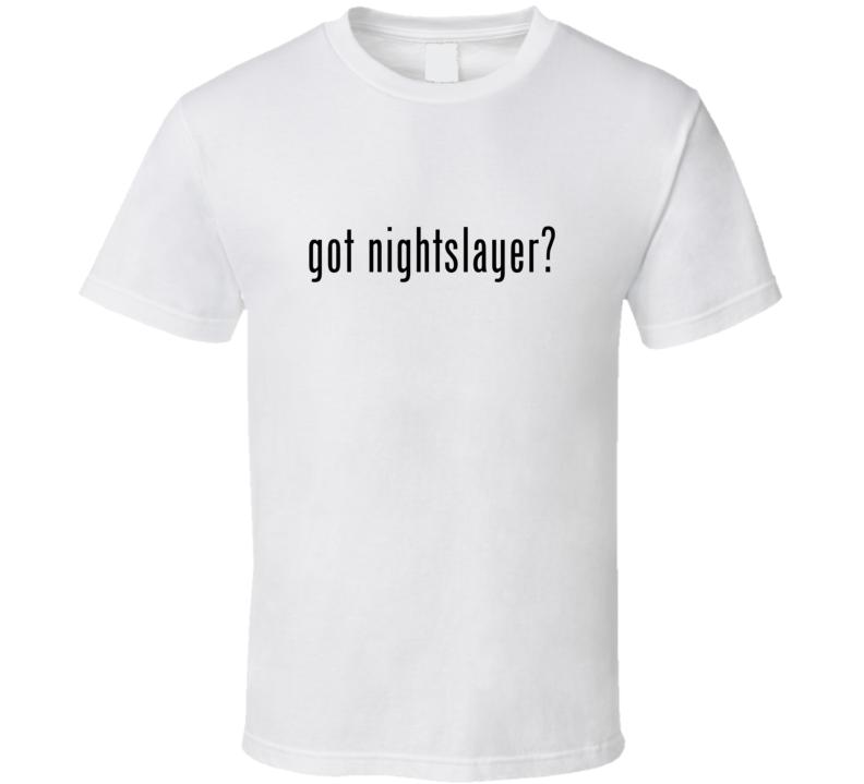 Nightslayer Comic Books Super Hero Villain Got Milk Parody T Shirt