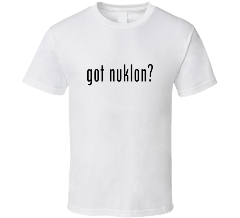 Nuklon Comic Books Super Hero Villain Got Milk Parody T Shirt