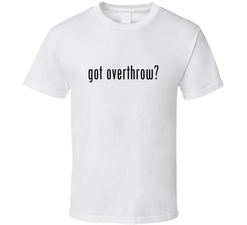 Overthrow Comic Books Super Hero Villain Got Milk Parody T Shirt
