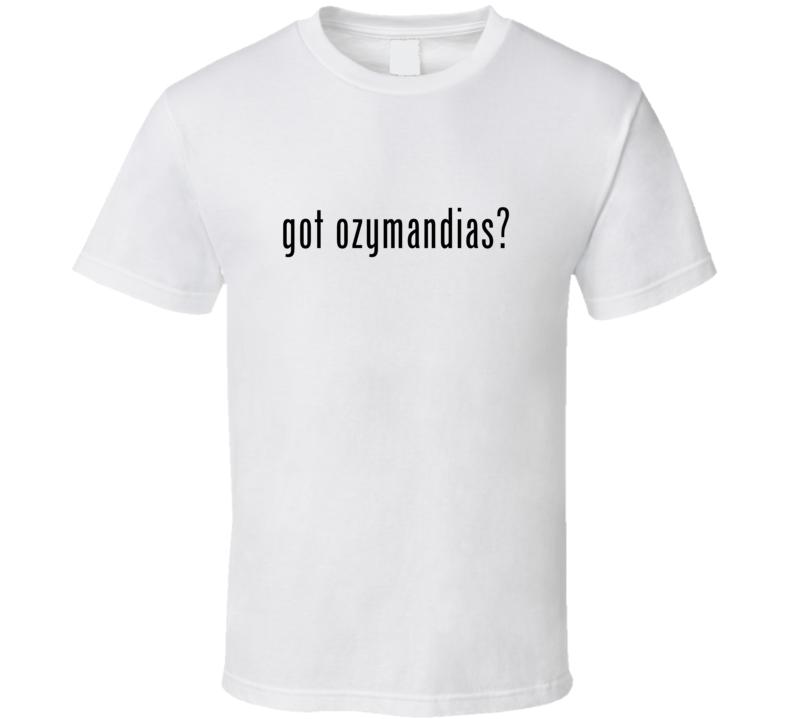 Ozymandias Comic Books Super Hero Villain Got Milk Parody T Shirt
