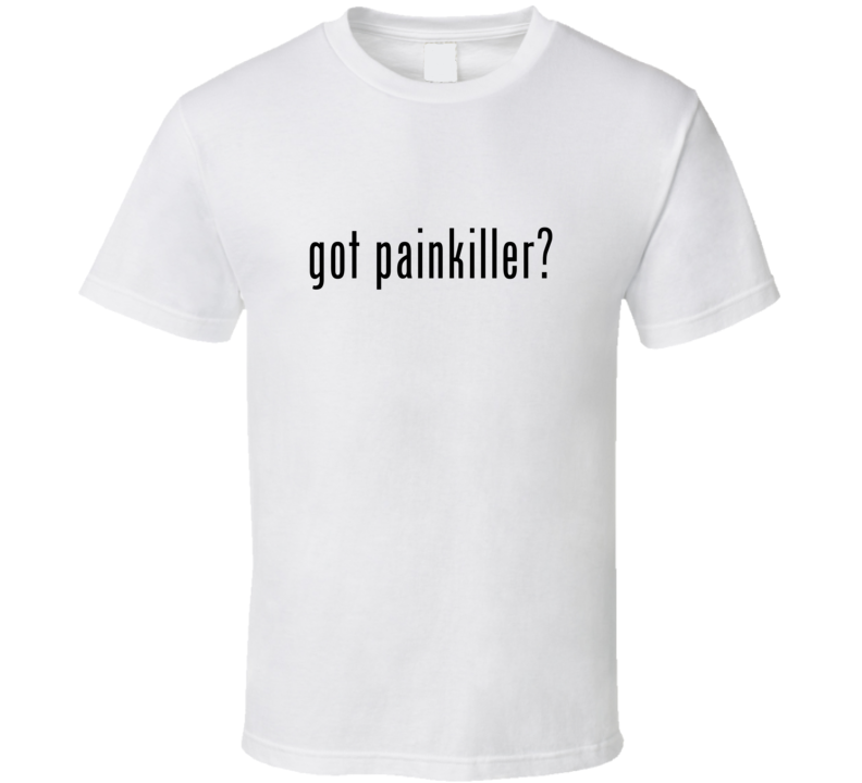 Painkiller Comic Books Super Hero Villain Got Milk Parody T Shirt