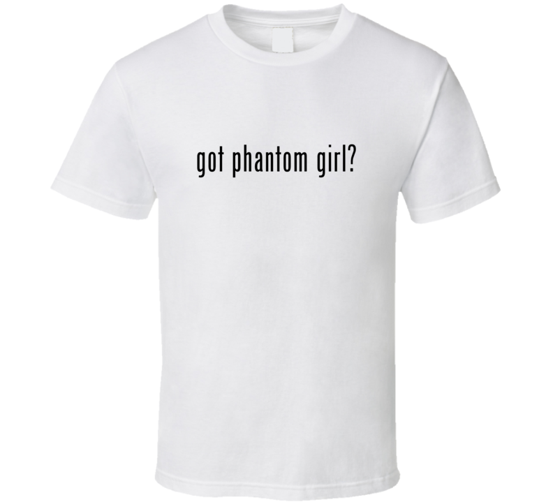 Phantom Girl Comic Books Super Hero Villain Got Milk Parody T Shirt