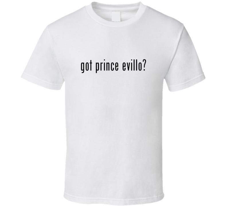 Prince Evillo Comic Books Super Hero Villain Got Milk Parody T Shirt