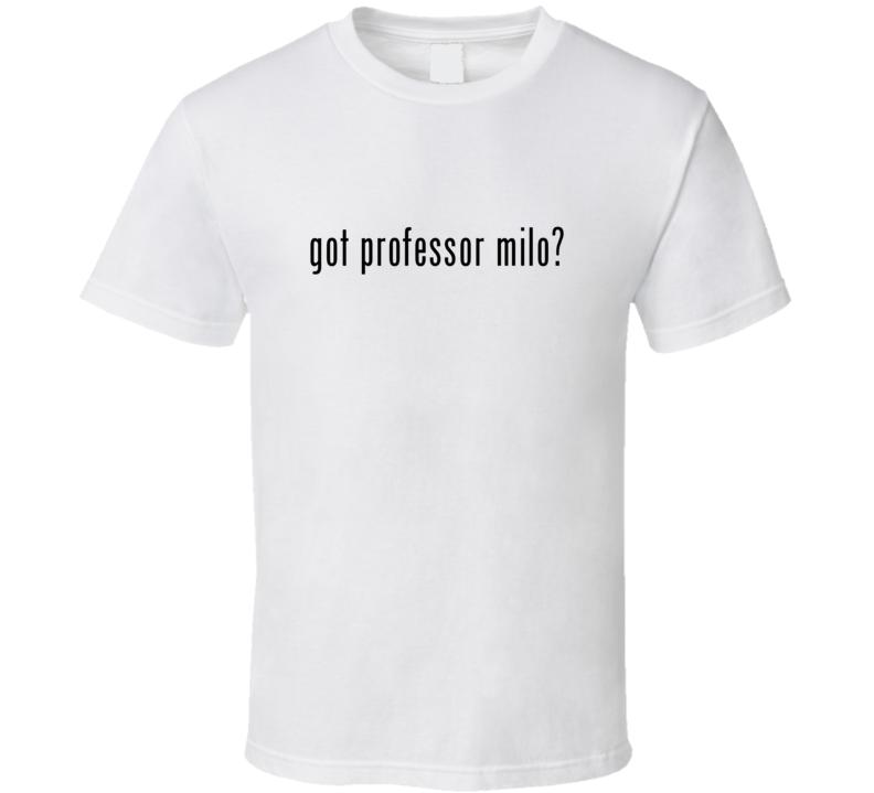 Professor Milo Comic Books Super Hero Villain Got Milk Parody T Shirt