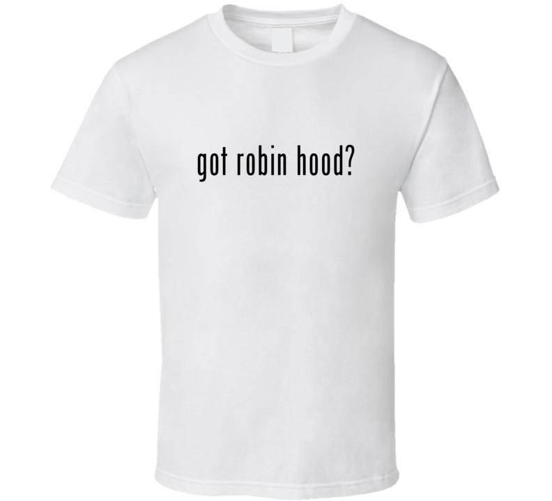 Robin Hood Comic Books Super Hero Villain Got Milk Parody T Shirt