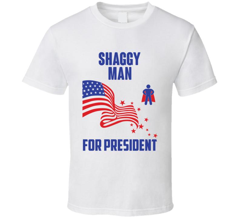 Shaggy Man For President Comics Super Hero Villain T Shirt