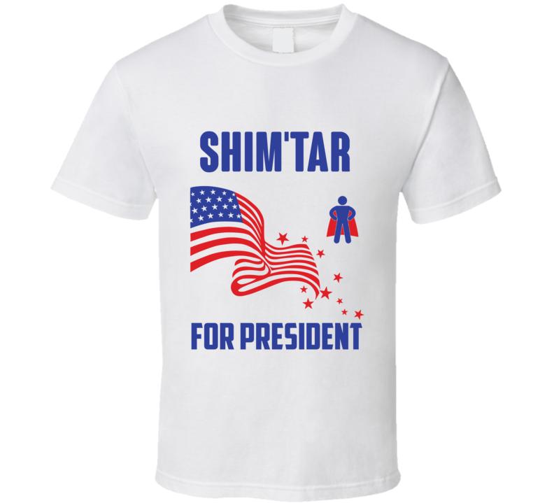 Shimtar For President Comics Super Hero Villain T Shirt