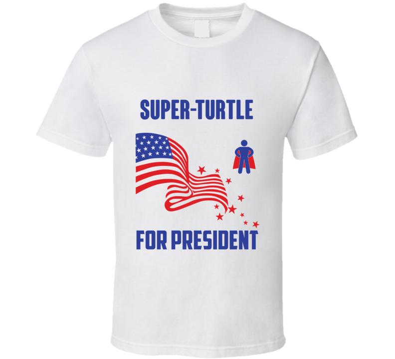 Super Turtle For President Comics Super Hero Villain T Shirt