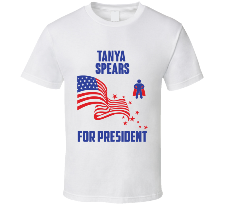 Tanya Spears For President Comics Super Hero Villain T Shirt