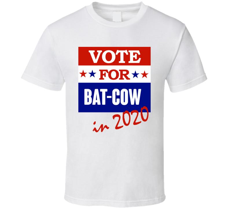 Bat Cow Election 2020 Comics Super Hero Villain T Shirt