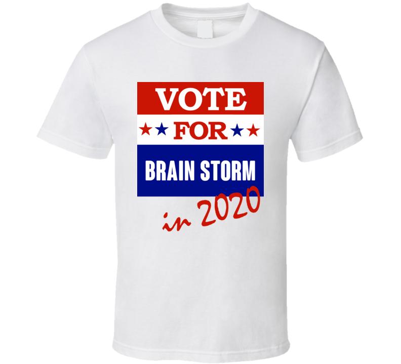 Brain Storm Election 2020 Comics Super Hero Villain T Shirt