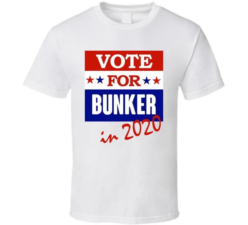 Bunker Election 2020 Comics Super Hero Villain T Shirt