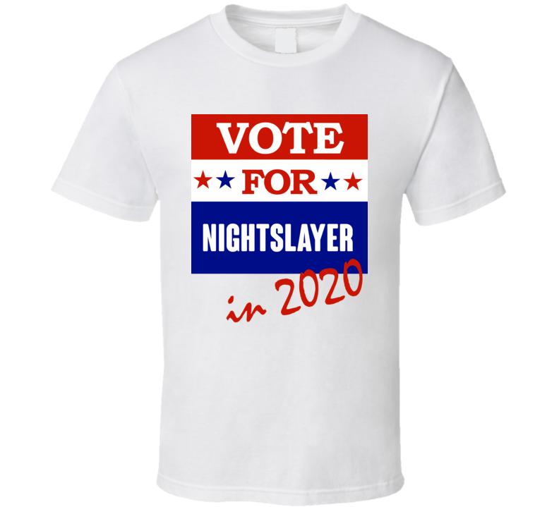 Nightslayer Election 2020 Comics Super Hero Villain T Shirt