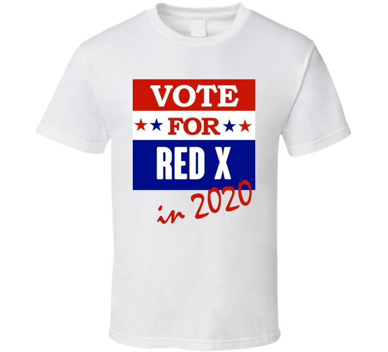 Red X Election 2020 Comics Super Hero Villain T Shirt