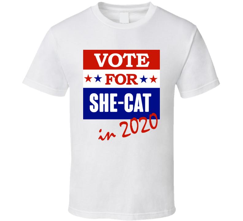 She Cat Election 2020 Comics Super Hero Villain T Shirt