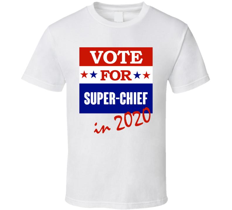 Super Chief Election 2020 Comics Super Hero Villain T Shirt