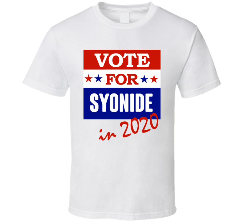 Syonide Election 2020 Comics Super Hero Villain T Shirt