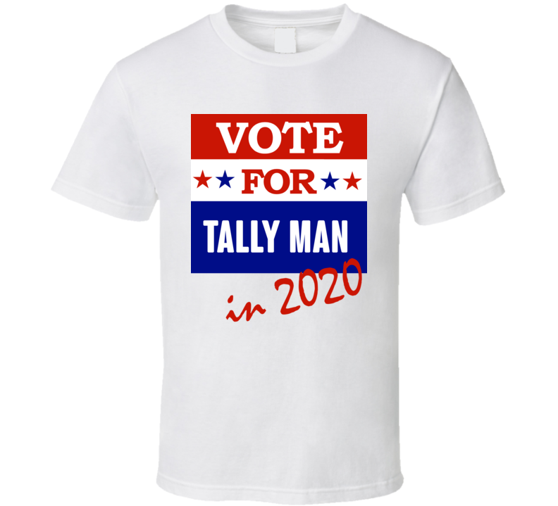 Tally Man Election 2020 Comics Super Hero Villain T Shirt