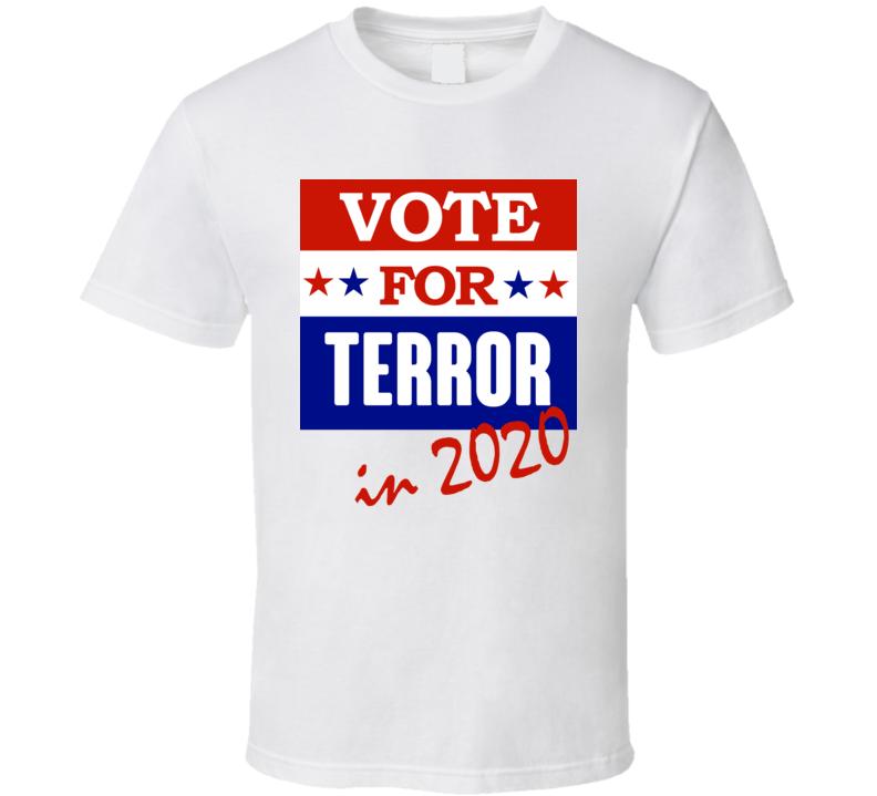 Terror Election 2020 Comics Super Hero Villain T Shirt