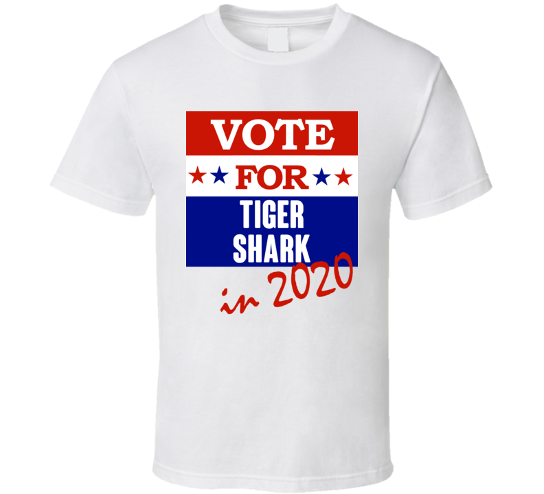 Tiger Shark Election 2020 Comics Super Hero Villain T Shirt