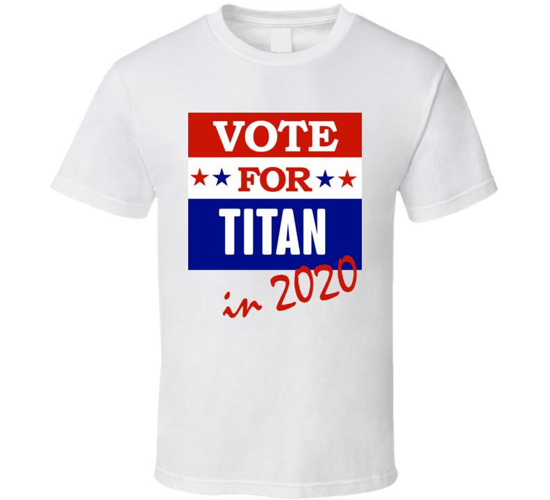 Titan Election 2020 Comics Super Hero Villain T Shirt