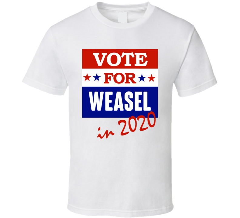 Weasel Election 2020 Comics Super Hero Villain T Shirt
