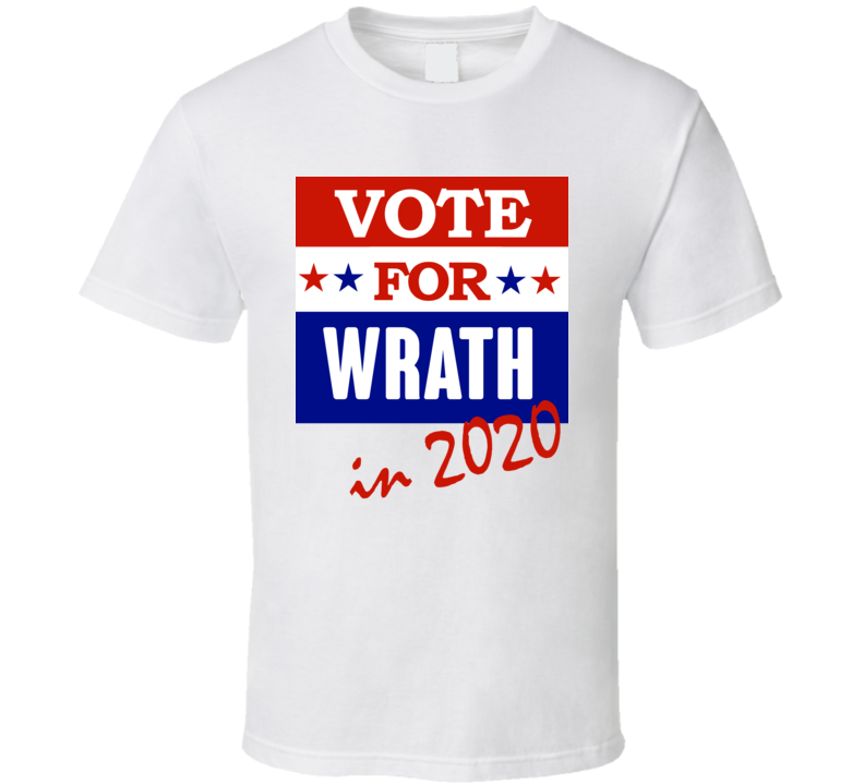 Wrath Election 2020 Comics Super Hero Villain T Shirt