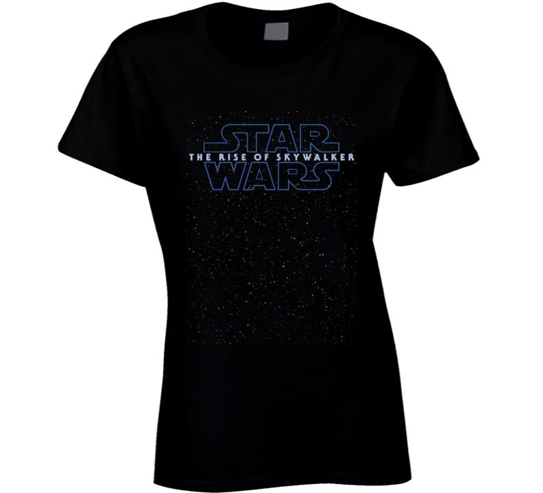 Star Wars Rise Of Skywalker Logo Starfield Luke Rey Ladies T Shirt
