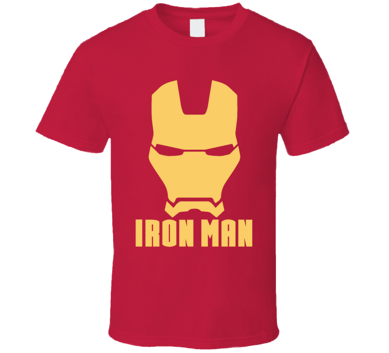 Iron Man Mask Silhouette Logo Comic Marvel Movie T Shirt