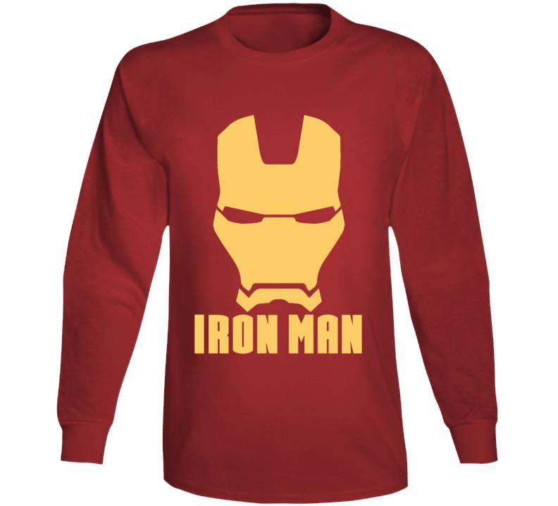 Iron Man Mask Silhouette Logo Comic Marvel Movie Long Sleeve