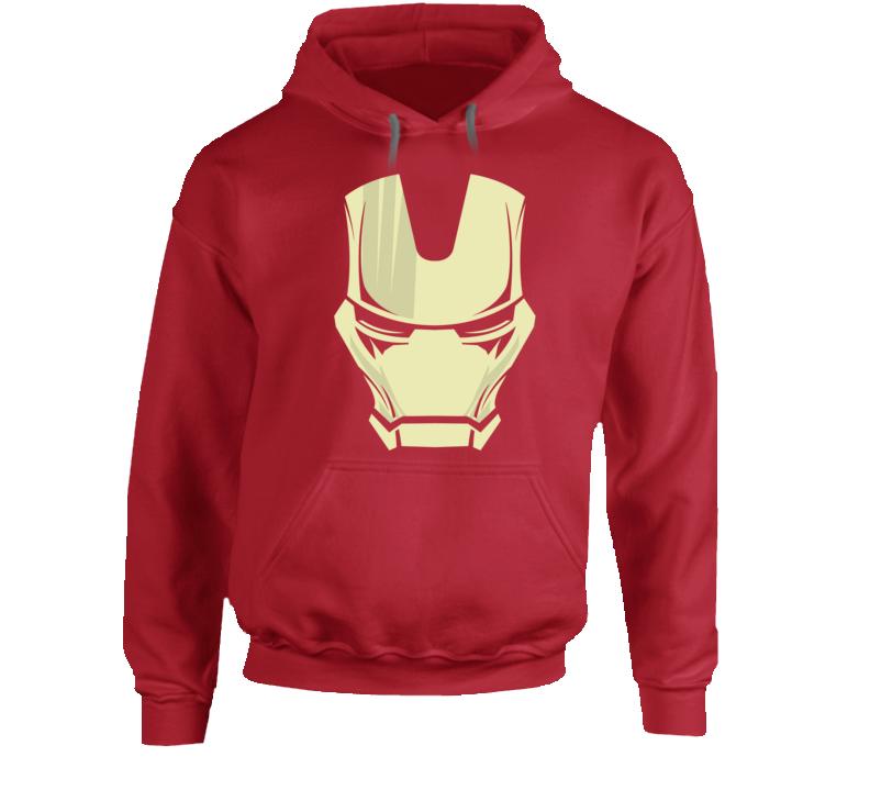 Iron Man Mask Silhouette Logo Comic Marvel Movie Hoodie