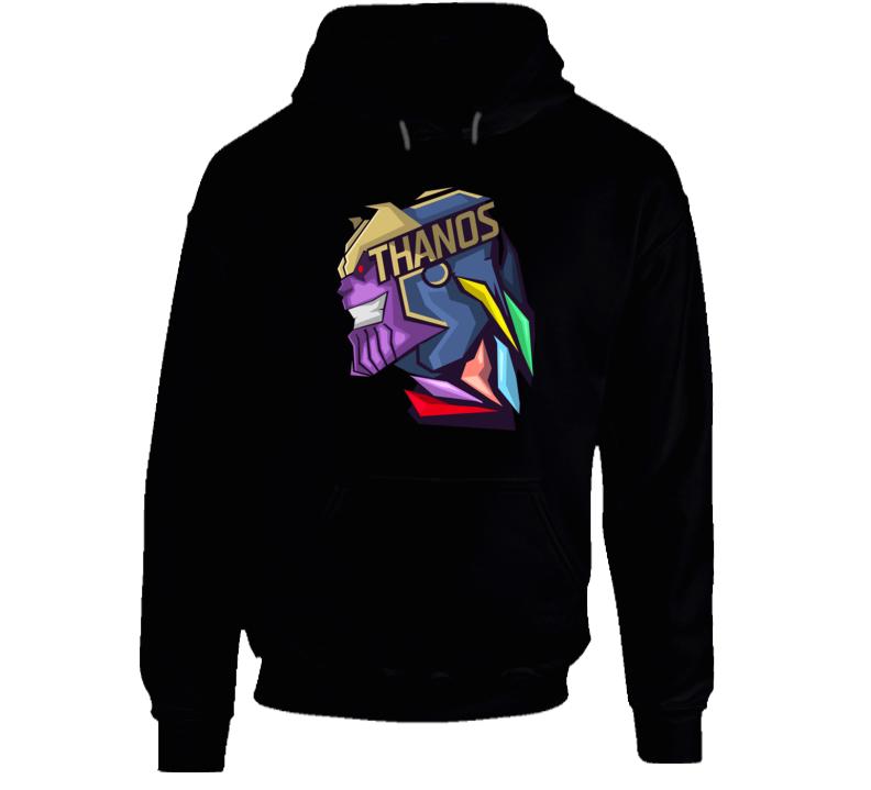 Thanos Logo Infinity Gauntlet Comic Marvel Movie Black Hoodie